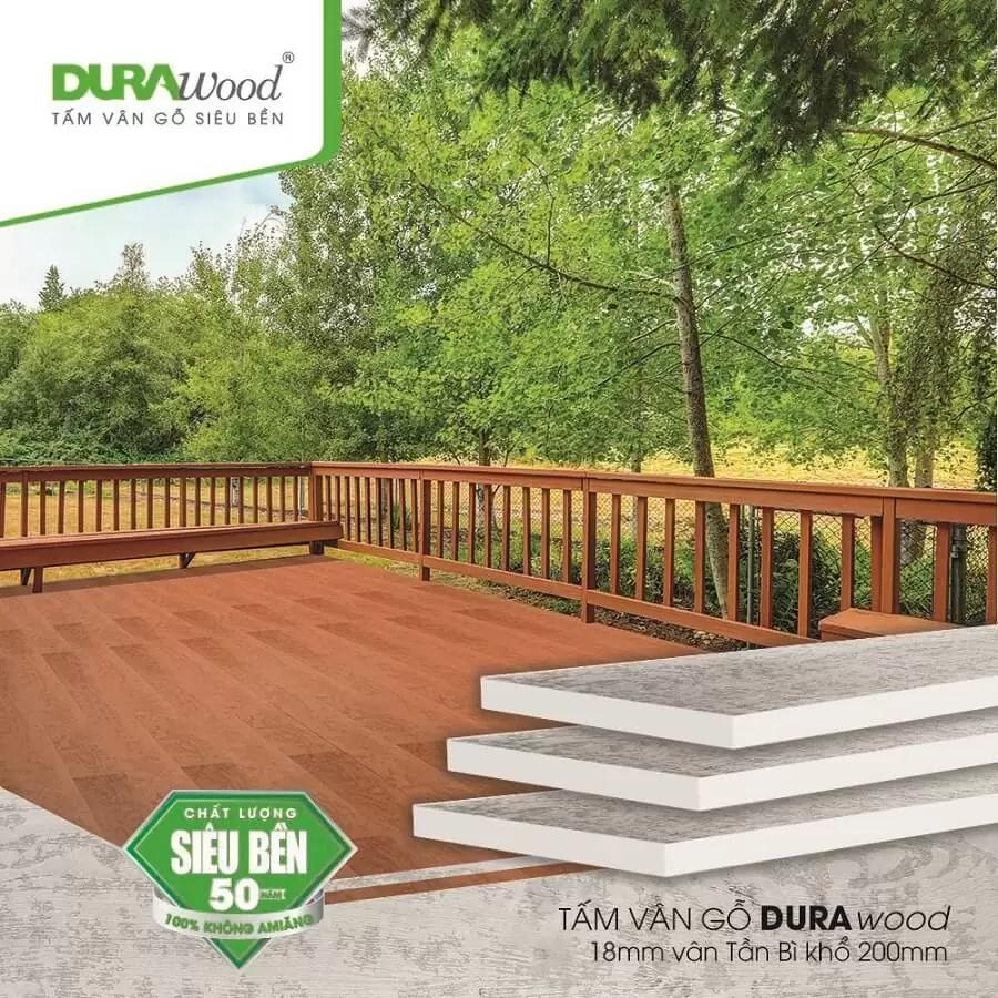 Tấm lót sàn nhà vân gỗ durawood